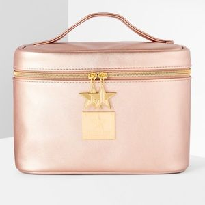 Jeffree Star Bags - Jeffree Star Travel Bag Train Case Rose Gold NWT